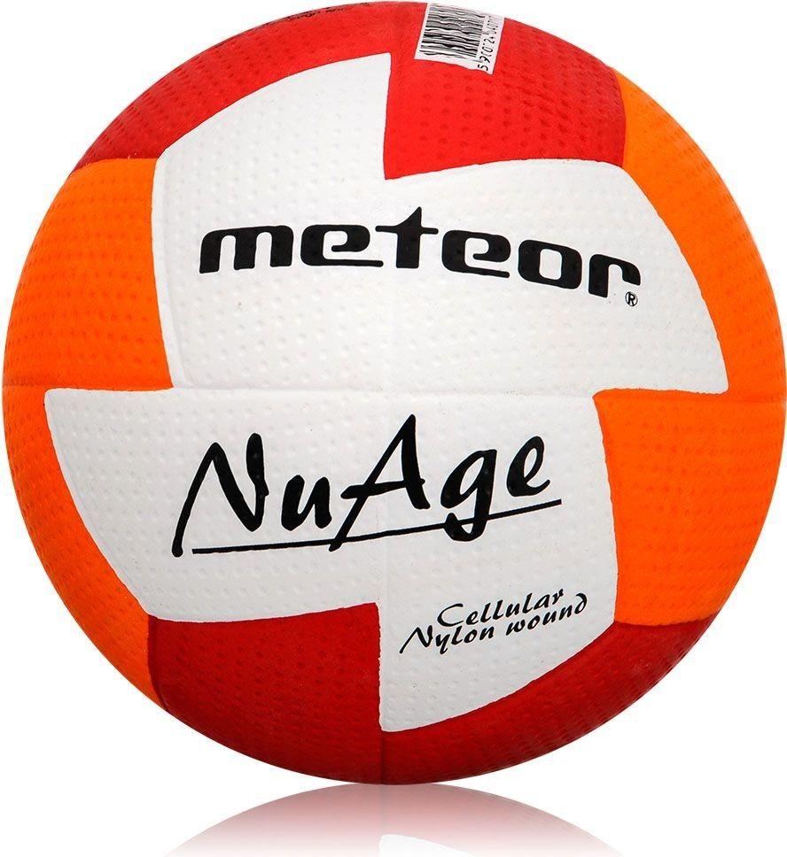 Piłka ręczna Meteor Nuage r. 2 czerwono-pomarańczowa