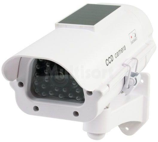 Atrapa kamery CCTV z panelem solarnym i LED
