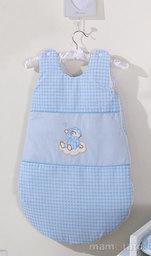 MAMO-TATO Śpiworek niemowlęcy haftowany Śpioch na chmurce w błękicie