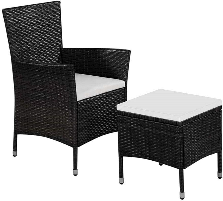 Fotel ogrodowy z podnóżkiem Felnar - czarny