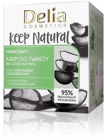 Delia Cosmetics Keep Natural Nawilżający Krem do twarzy na dzień i noc 50ml