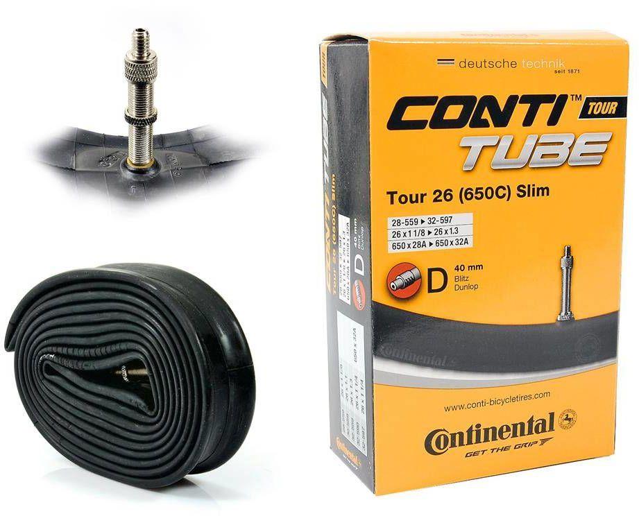 """Dętka Continental Tour Slim 26'' oraz 27,5"""" x 1,1'' - 1,3'' wentyl dunlop 40 mm"""