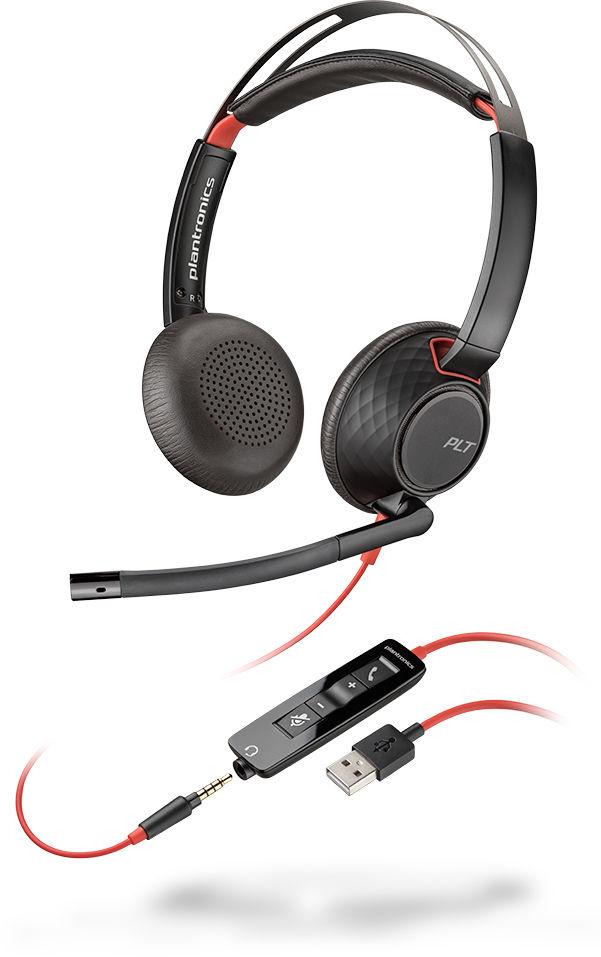 POLY Blackwire C5220 Zestaw słuchawkowy Opaska na głowę Złącze