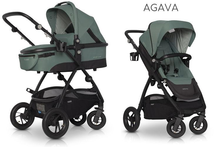 EasyGo Optimo+gondola+fotelik (do wyboru) - Agava