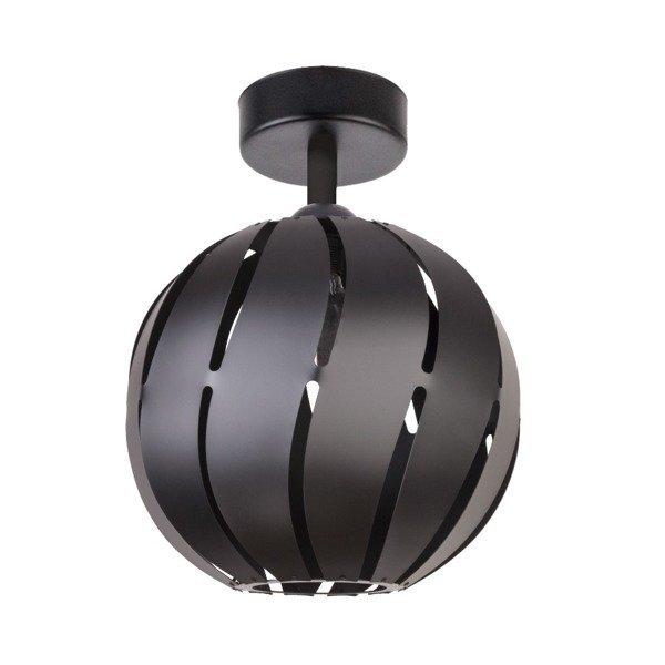 Lampa plafon GLOBUS skos czarny 22cm
