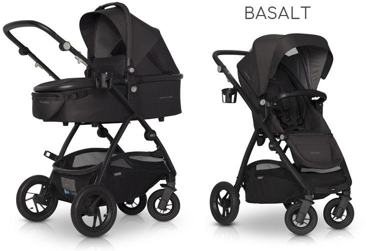 EasyGo Optimo+gondola+fotelik (do wyboru) - Basalt