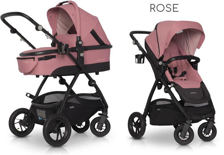EasyGo Optimo+gondola+fotelik (do wyboru) - Rose