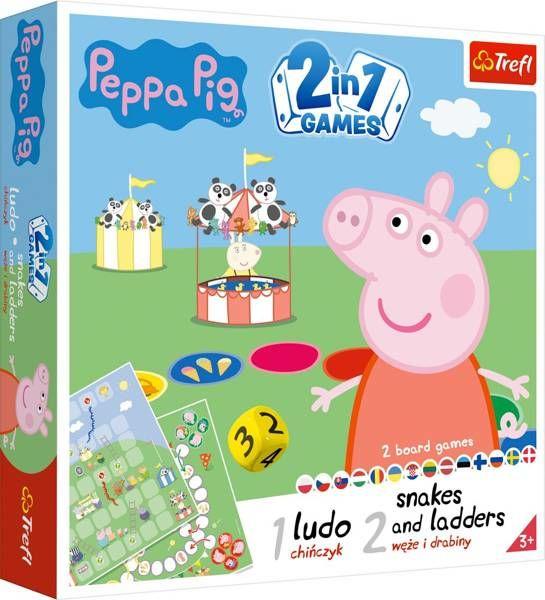 Gra 2w1 Chińczyk Węże i drabiny Peppa 02067 - Trefl PAP