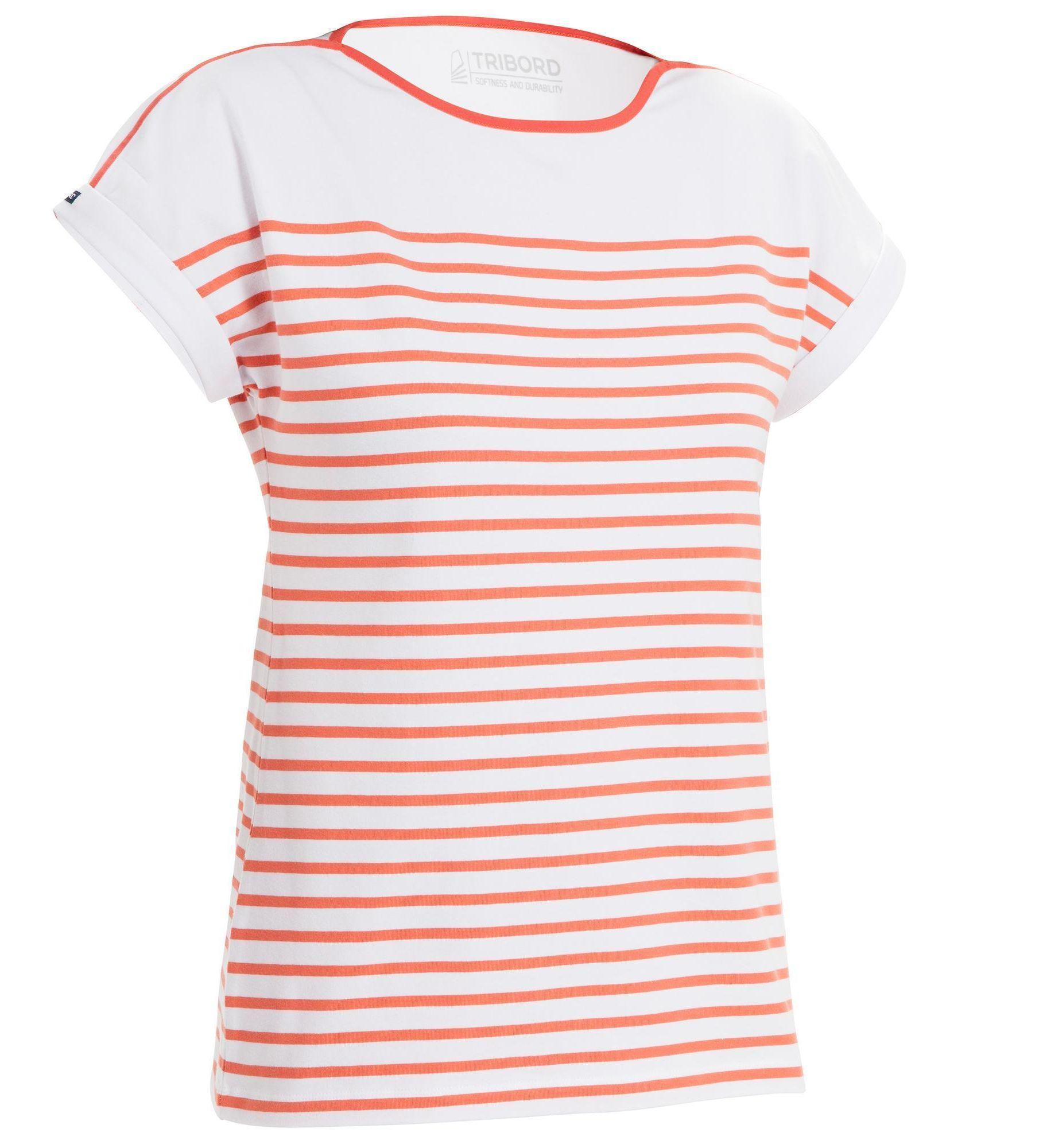 Koszulka żeglarska krótki rękaw SAILING 100 damska