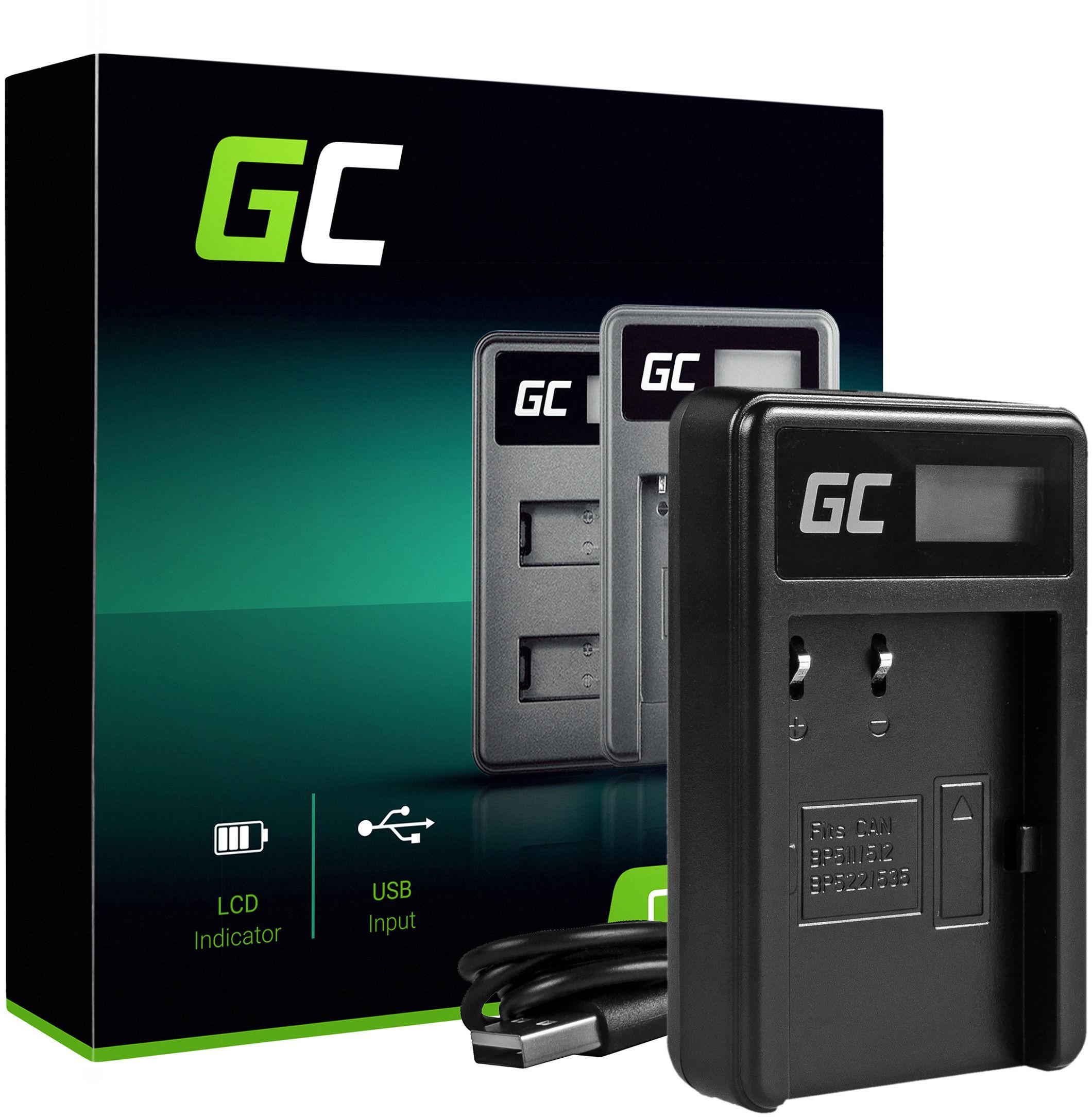 Ładowarka CB-5L Green Cell  do Canon BP-511 PowerShot G1 G2 G3 G5 G6 90 Pro EOS Kiss Digital Optura 20 D60 300D (8.4V 5W 0.6A)