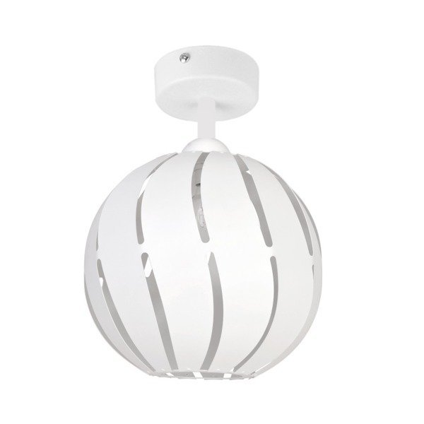 Lampa plafon GLOBUS skos biały 22cm
