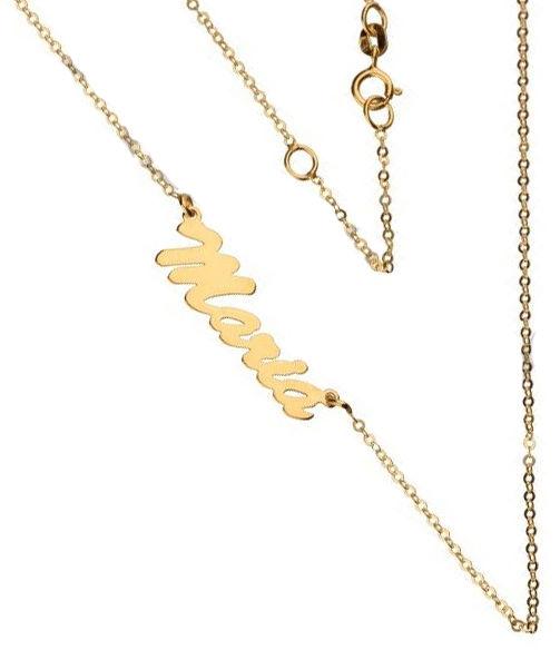 Złoty naszyjnik 333 łańcuszek imię Maria 1,0 g