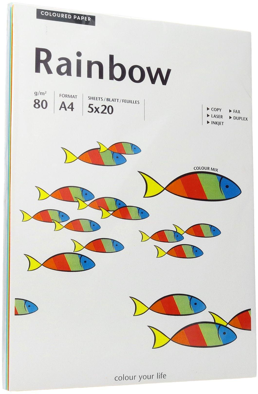 Papier ksero A4 80g mix kolorów intensywnych Rainbow (100)