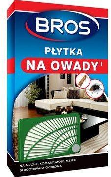 Bros Płytka na owady (muchy, komary, mole, meszki) 1 szt.