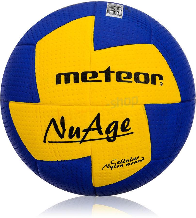 Piłka ręczna Meteor Nuage r. 2 niebiesko-żółta