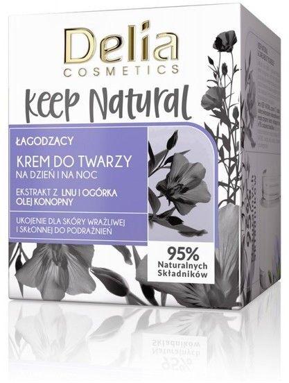 Delia Cosmetics Keep Natural Łagodzący Krem do twarzy na dzień i noc 50ml