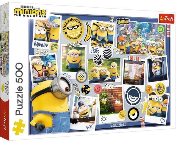 Puzzle 500el Minionki Zwariowana kolekcja zdjęć 37390 Trefl p8 (37390 TREFL)