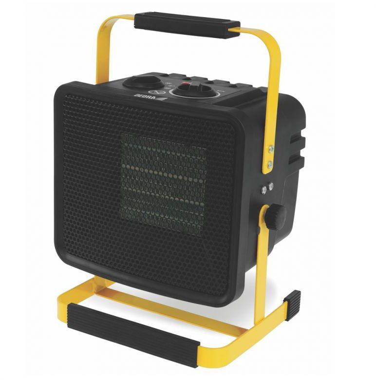 DEDRA Nagrzewnica elektryczna PTC 2,0kW, kwadratowa, czarna, stojak ceramiczny element grzejny DED9930C3