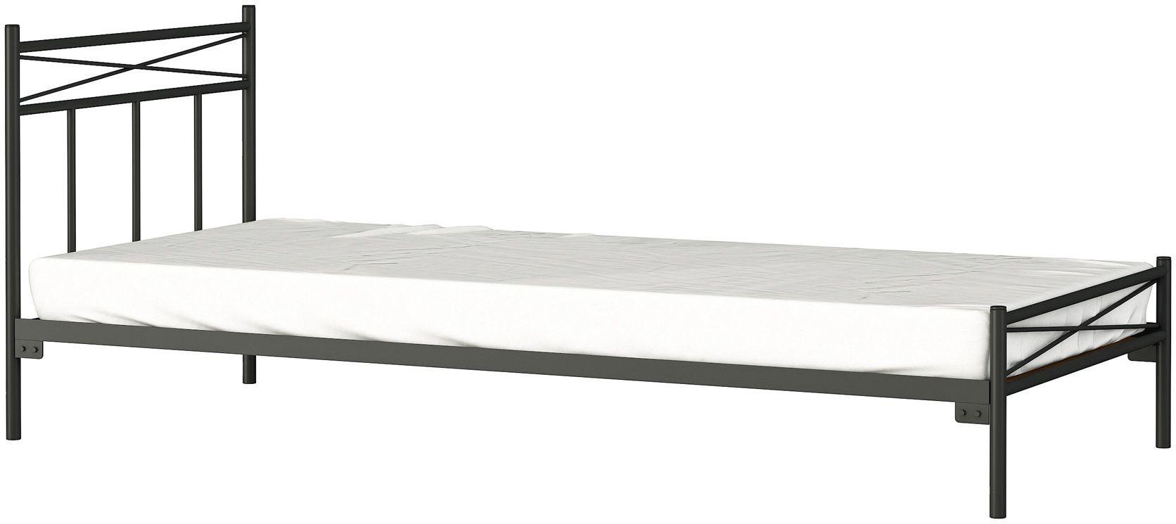 Łóżko jednoosobowe metalowe Boston 90x200 - 17 kolorów