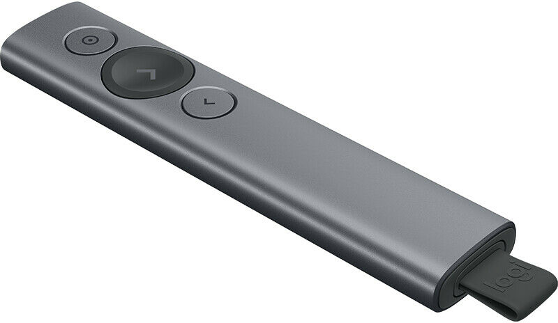 Logitech Spotlight prezenter bezprzewodowy Bluetooth oraz 2.4GHz do 30m - ciemnoszary