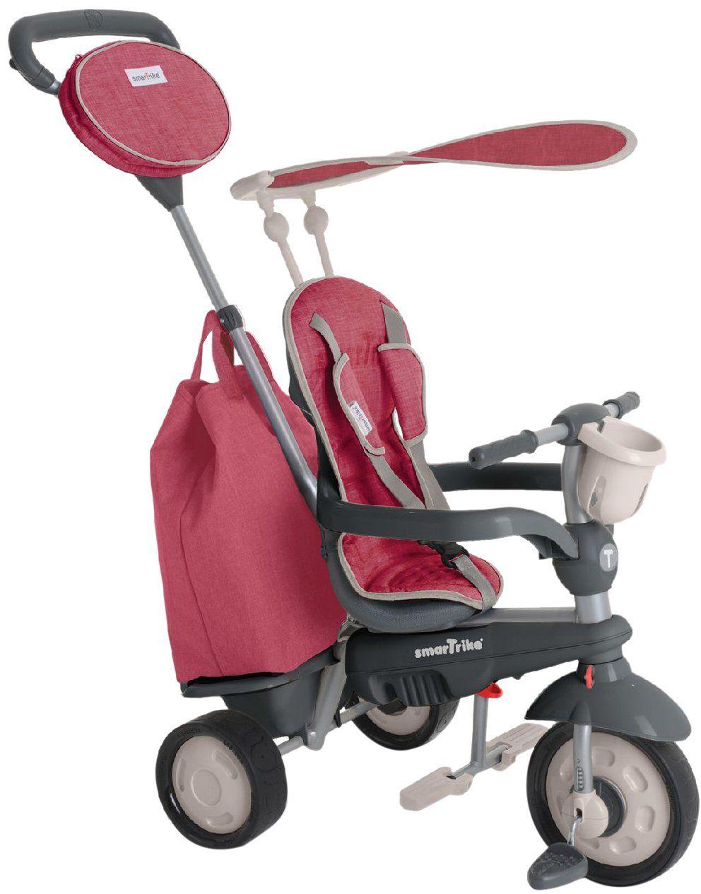 smarTrike 195-0500  Voyage 4 w 1 trójkołowy rower dla dzieci od 10 miesięcy, czerwony