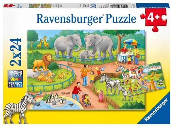 Puzzle 2x24el Dzień w Zoo 078134 RAVENSBURGER (RAP 078134)