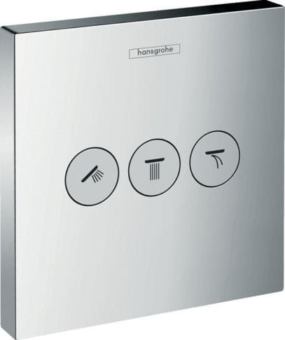 Hansgrohe ShowerSelect bateria termostatyczna do 3 odbiorników, montaż podtynkowy, element zewnętrzny