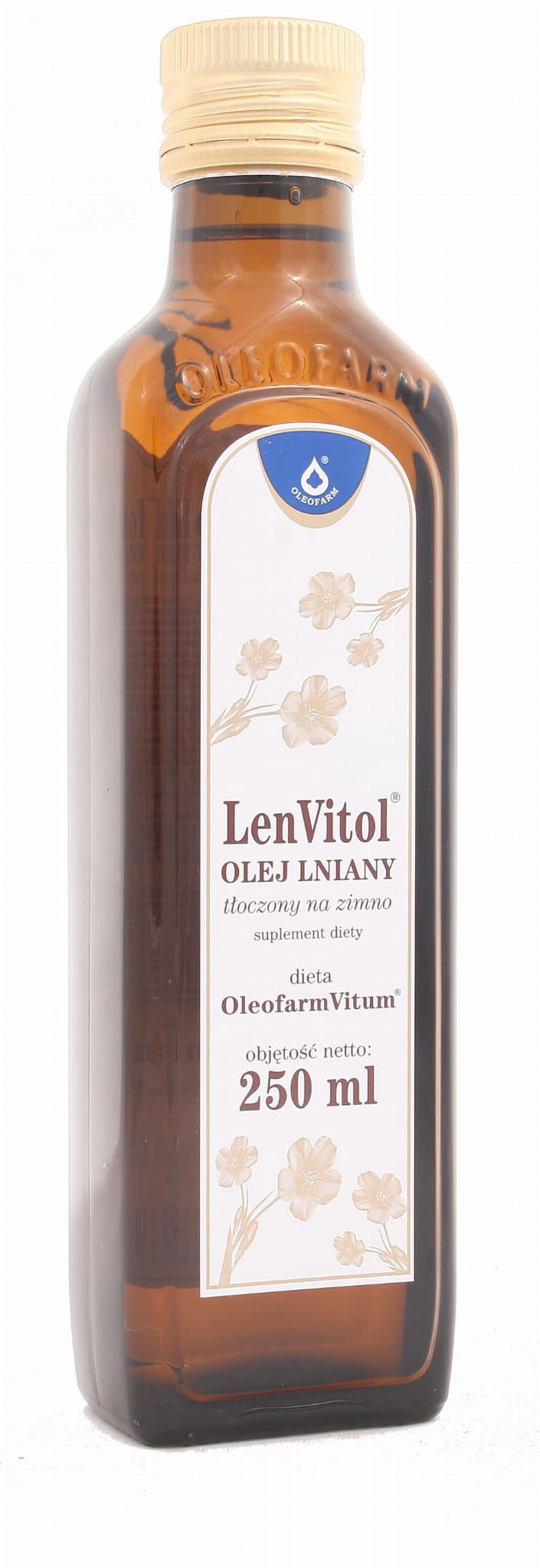 Olej Lniany Len Vitol tłoczony na zimno - Oleofarm - 250ml