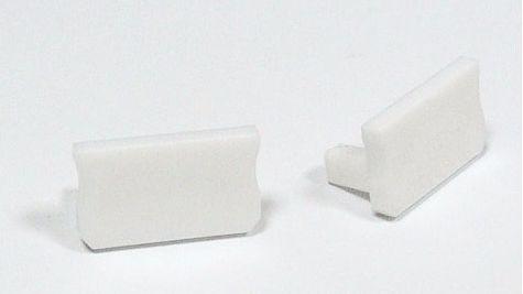 Zaślepka 1 sztuka do profili LED nawierzchniowych wąskich SLIM typ X biała