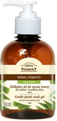 Green Pharmacy Delikatny żel do mycia twarzy Aloes - 270 ml
