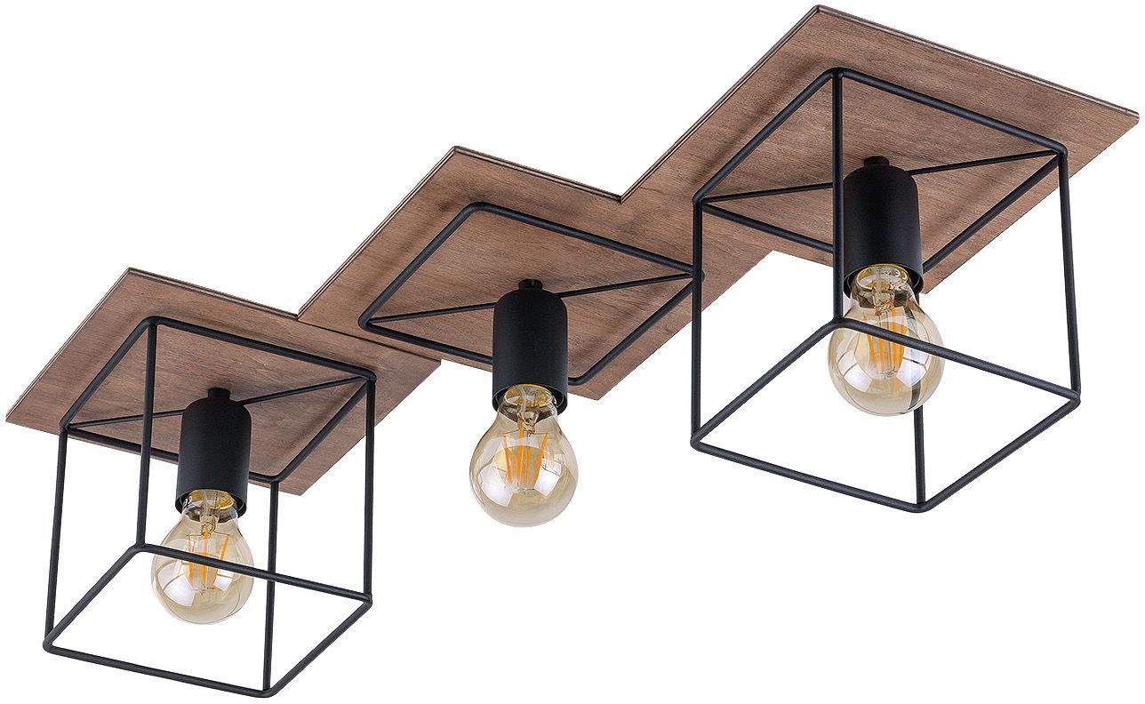 Plafon Coba 9043 Nowodvorski Lighting czarno-brązowa potrójna oprawa sufitowa