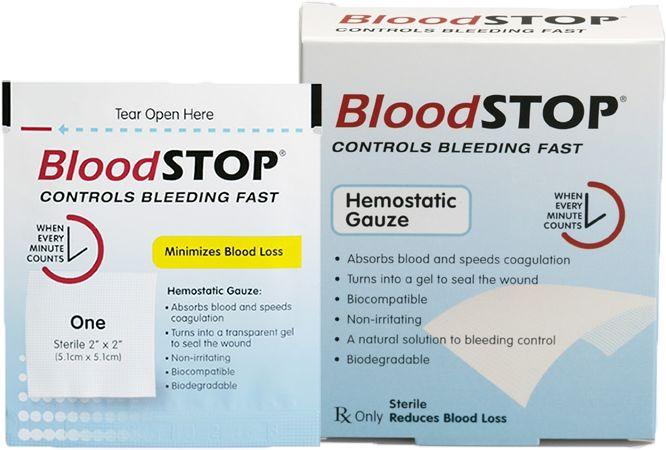 BloodSTOP  niewchłanialny opatrunek hemostatyczny