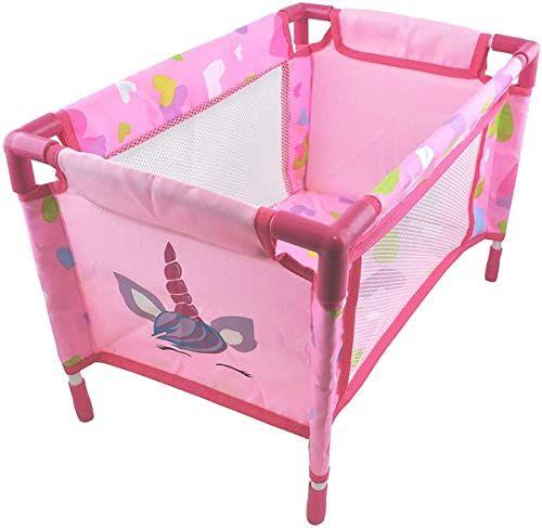 Dimian BD1853 łóżko dziecięce dla lalek, różowe