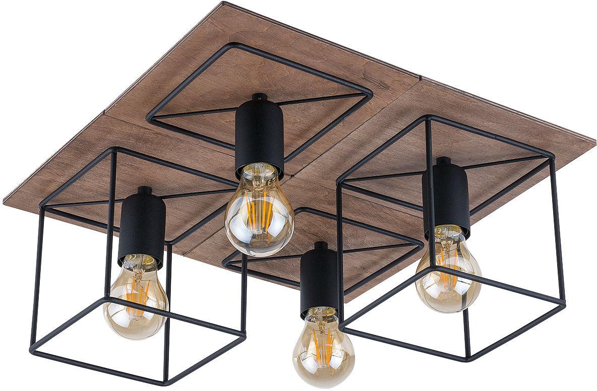 Plafon Coba 9044 Nowodvorski Lighting czarno-brązowa poczwórna oprawa sufitowa