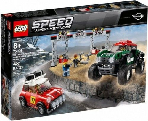 LEGO Speed Champions - 1967 Mini Cooper S Rally oraz 2018 MINI John Cooper Works Buggy 75894