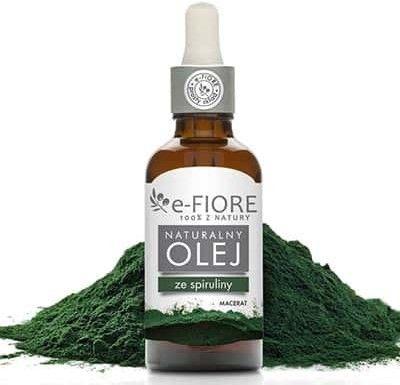Olej macerat z zielonych ALG SPIRULINA cellulit, ujędrnianie 50ml e-Fiore