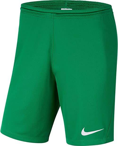 Nike Dziecięce spodenki Park III NB, sosnowo-zielone/białe, XL