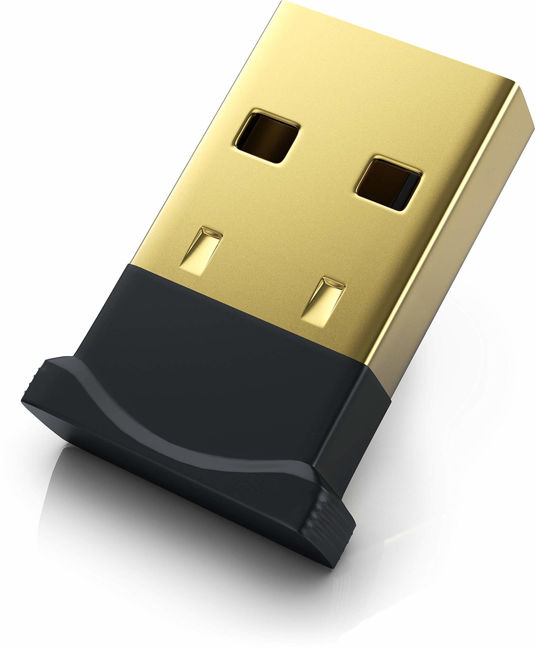 CSL - USB Bluetooth Adapter V4.0 mini - Bluetooth Dongle Stick - Windows 10 8.1 8 7 XP Vista - do PC Hifi słuchawki