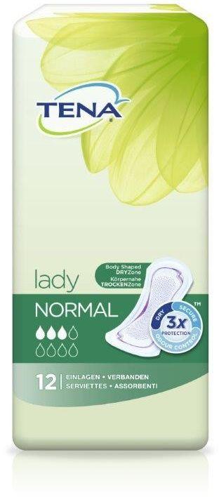 Wkładki urologiczne TENA Lady Normal - 12 lub 30 szt.
