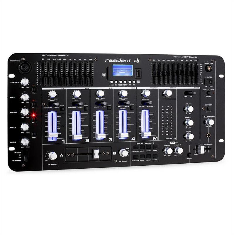 Auna Pro 4-kanałowy stół mikserski resident dj Kemistry 3 B Bluetooth