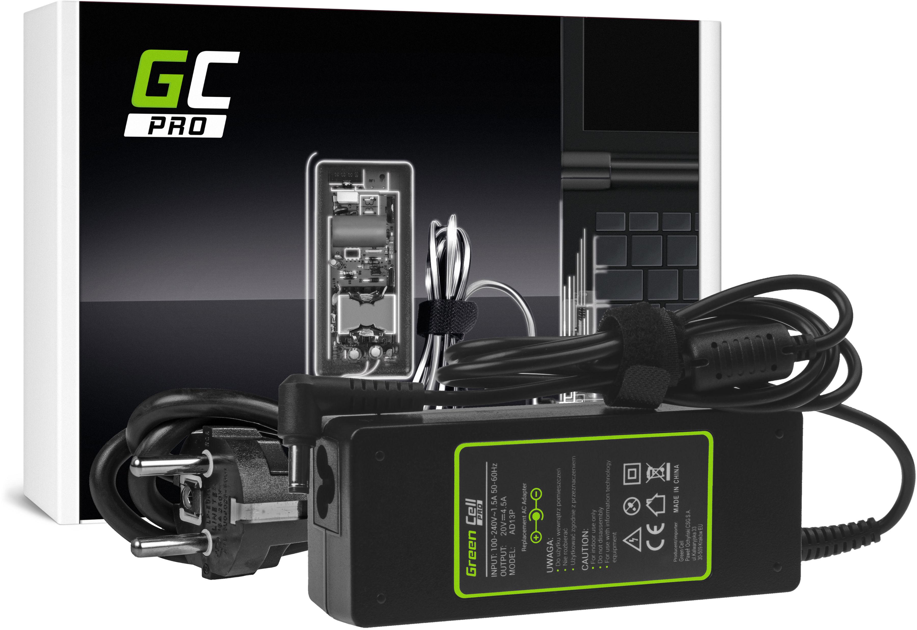 Zasilacz Ładowarka Green Cell PRO 20V 4.5A 90W do Lenovo B570 G550 G570 G575 G770 G780 G580 G585 IdeaPad P580 Z510 Z580 Z585