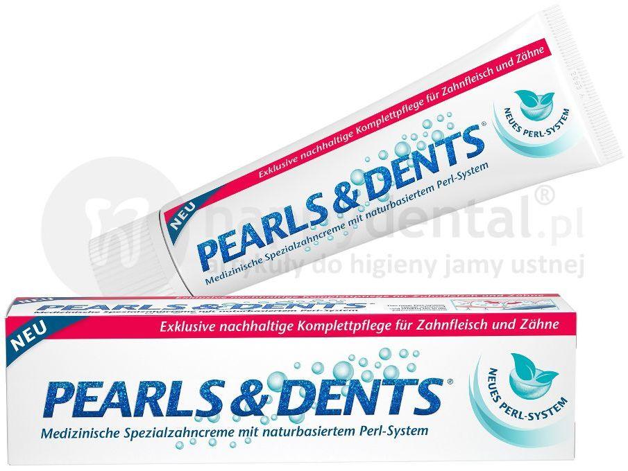 PEARLS & DENTS pasta 100ml - leczniczo wybielająca pasta do zębów z aktywnym systemem perełek Perl-System