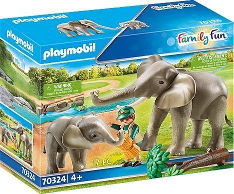 Playmobil - Słonie na wybiegu 70324