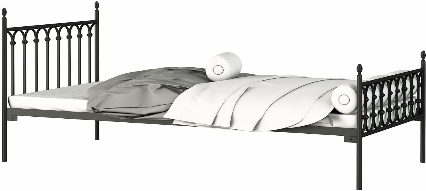 Łóżko dwuosobowe z metalu Marcile 160x200 - 17 kolorów
