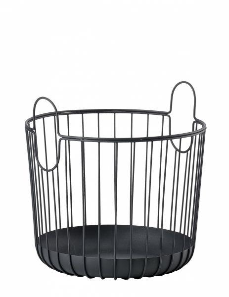 ZONE Denmark INU Metalowy Kosz do Przechowywania 30 cm Czarny