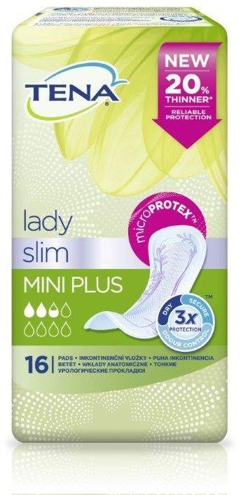 Wkładki urologiczne TENA Lady Slim Mini Plus - 16 szt