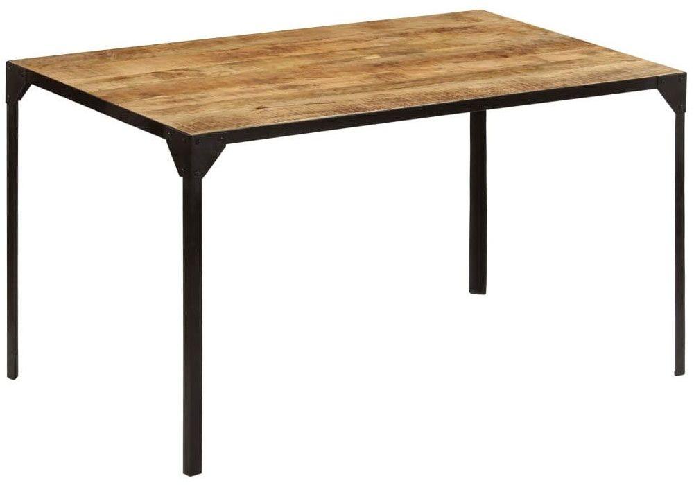 Stół w stylu industrialnym ze stali i drewna Kartes 2X  brązowy
