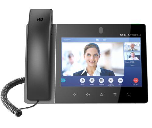 "GXV3380 HD Wideotelefon IP , 16 kont SIP, POE, porty GB, WiFi, LCD 8"" - Grandstream"