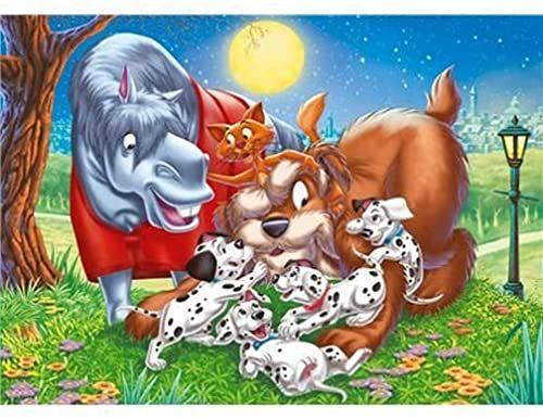 25413 - Clementoni puzzle podłogowe 40 części - WD Animal Friends: 101 Dalmatians, 40 części