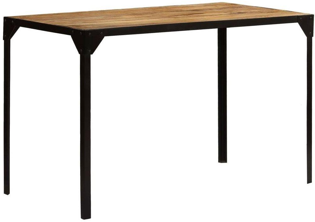 Stół industrialny ze stali i drewna Kartes  brązowy
